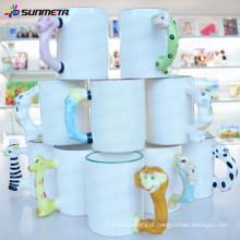 Sunmeta fábrica fornecimento 11 onças em branco Sublimação Mug com Animal Handle