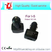 New & High Quality 5V1.2A USB car charger for iPhone4/4S/5