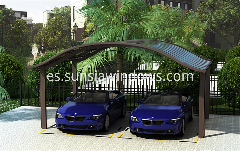 European Style Aluminum Double Car Shelding