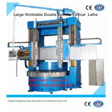 Grande torno duplo CNC de duplo eixo preço oferecido por duplo eixo CNC Vertical Torno fabricação