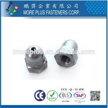 Taiwan Stainless steel 18-8 Chrome plated steel Nickel plated steel Copper Brass Long Cap Nut Welding Cap Nuts