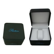 Boîte de paquet de montre simple de papier de contact doux avec l'enduit noir de velours