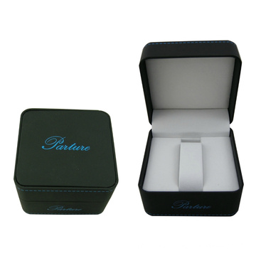 Soft Touch Paper Single Watch Display Package Box with Black Velvet Coated