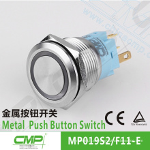 Interruptor pulsador iluminado de acero inoxidable CMP ip67 led button 19mm