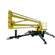 Bras élévateur de bras de ciel hydraulique de 10-18m / travail aérien articulant forme de travail tractable de levage de bras de moteur diesel