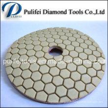 Tampon de polissage de diamant collé par résine pour le granit concret de marbre