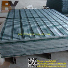 PVC Coated Double Wire Fence Panel