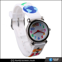 Relógio traseiro de aço inoxidável de quartzo para faixa 3D infantil