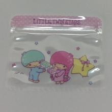 transparent sealing zipper cartoon storage bag