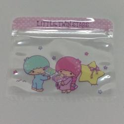 transparent sealing zipper cartoon storage bag
