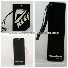 Hot sale black card hang tags