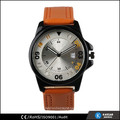 latest arrival leather strap vogue men watches