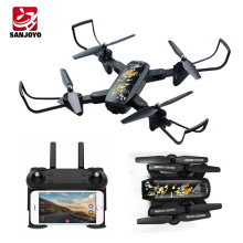 Long flight time foldable drone Wifi fpv drone with 720P 120 degree wide angle camera follow me selfie drone SJY-DM107S