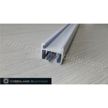 Powder Coated Silver Vertical Blind Track