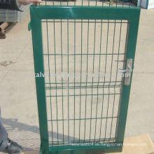 Puerta de cerca de hierro galvanizado