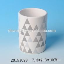 2016 Decal Ceramic Pen Container venta al por mayor, barato titular de la pluma de cerámica