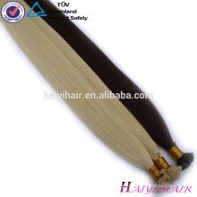 Qualidade superior eu derrubo o cabelo por atacado 100 remy barato eu derrubo a extensão do cabelo humano da queratina