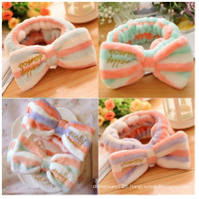 Bowknot Make-up Beauty Headdress, Cotton Headband for Girls
