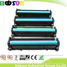 Cartucho de tinta de la copiadora del color de la venta directa de la fábrica para HP CB540A / CB541A / CB542A / CB543A (125A) Precio competitivo / muestra gratis