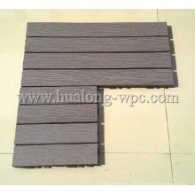 2015 уникальный деревянный настил WPC блокировки плитки