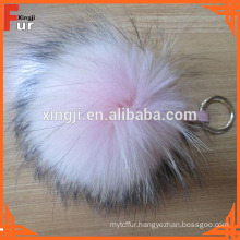 Fur Ball Keyring, Raccoon Fur Pom Pom Keychain