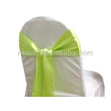 manzana verde, marco de la silla del satén lujo vogue corbata, corbata de lazo, nudo, lazos de silla para bodas