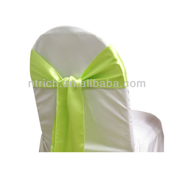 apple green, fancy vogue satin chair sash tie back,bow tie,knot,chair ties for weddings