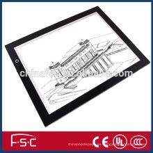 Tamaño personalizado y alta calidad slim LED tablero de trazo dibujo para animación