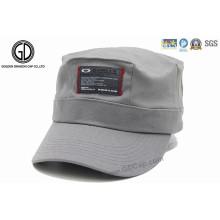 Kundenspezifischer Baumwollarmee-Hut-Militärkappe mit Flecken-Aufkleber-Logo
