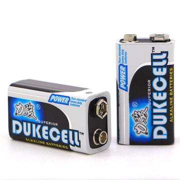 Bateria de célula seca alcalina 9V Mercury-Free