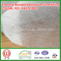 Vietnam Bangladesh Thaïlande 23gsm fleur design pâte dot thermique non tissé entoilage
