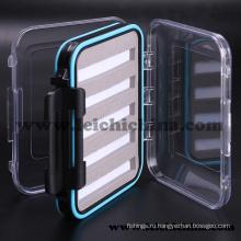 Водонепроницаемая пена-внутри маленькая пластиковая коробка для рыбалки Fly