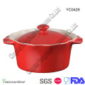 Round Baking Casserole with Lid