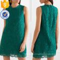 Graceful Green Lace Sleeveless Summer Mini Dress Manufacture Wholesale Fashion Women Apparel (TA0271D)