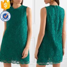 Graceful Vert Dentelle Sans Manches D'été Mini Robe Fabrication En Gros Mode Femmes Vêtements (TA0271D)