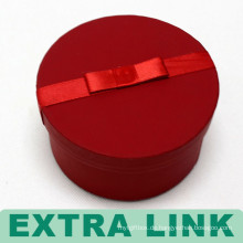 Luxus Doppelschicht Rot Runde Drehbare Karton Aufbewahrungsbox