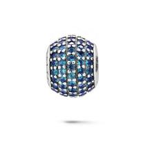 Jóias de cristal colorido jóias de prata para pulseira europeia