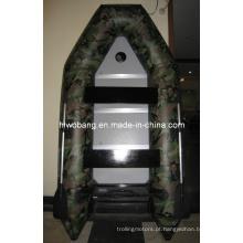 Barco inflável de PVC de camuflagem de carga pesada OEM