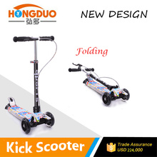 2015 new design kids plastic kick Scooter PU wheels 4 wheels kick scooter