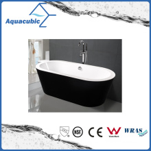 Black Surround Oval Free-Standing Acrylic Bathtub (AB1505B)