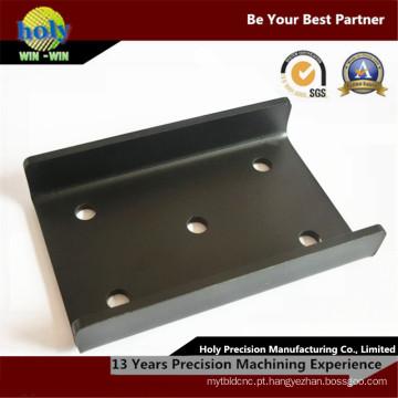 Peças fazendo à máquina do CNC da folha de metal do aço carbono S355 da placa do diodo emissor de luz