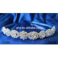 Nueva venda de la flor del bebé del rhinestone de la venta al por mayor de la manera con la perla