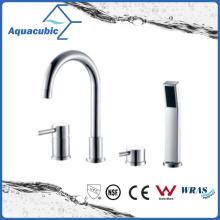 Faucet de banheira de latão cromado de mão dupla com chuveiro de mão (AF6009-2A)