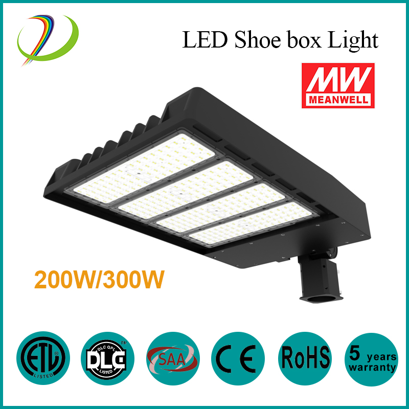 150w LED shoe box light ETL DLC
