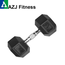 14KG Black Rubber Hex Dumbbell