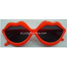 Okulary Red Lip Costume z logo