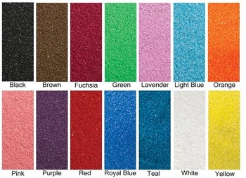 colored sand color chart