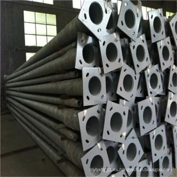 Poste de iluminación de acero de 9 m - galvanizado