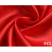 Colorant rouge robe de Satin tissu