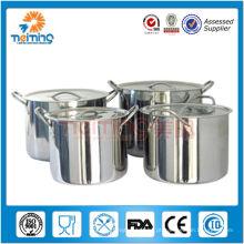 Potenciômetro de sopa de aço inoxidável comercial da cozinha do restaurante da alta qualidade 8pcs